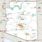 Stock Vector Map Of Arizona | One Stop Map   Printable Map Of Arizona