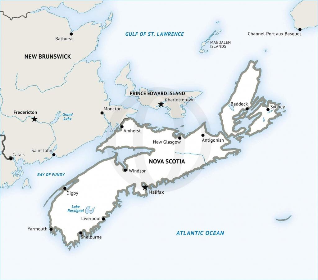 Stock Vector Map Of Nova Scotia | One Stop Map - Printable Map Of Nova Scotia Canada