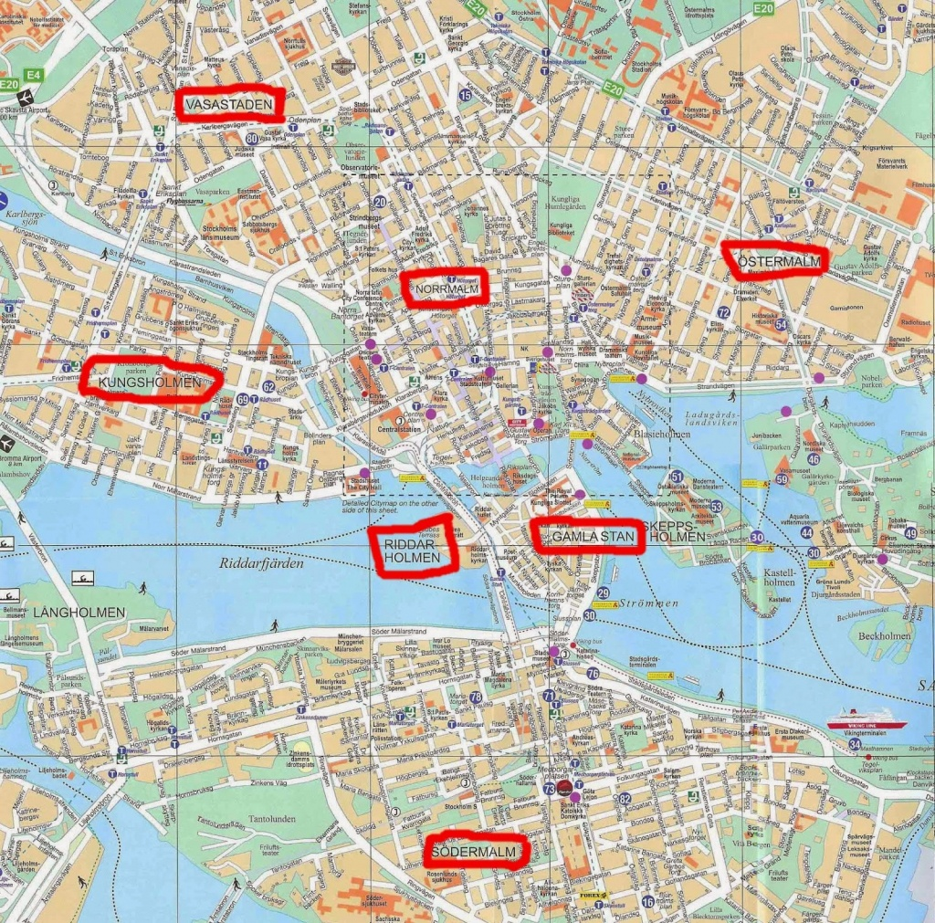 Stockholm City Centre Map And Travel Information | Download Free - Stockholm Tourist Map Printable
