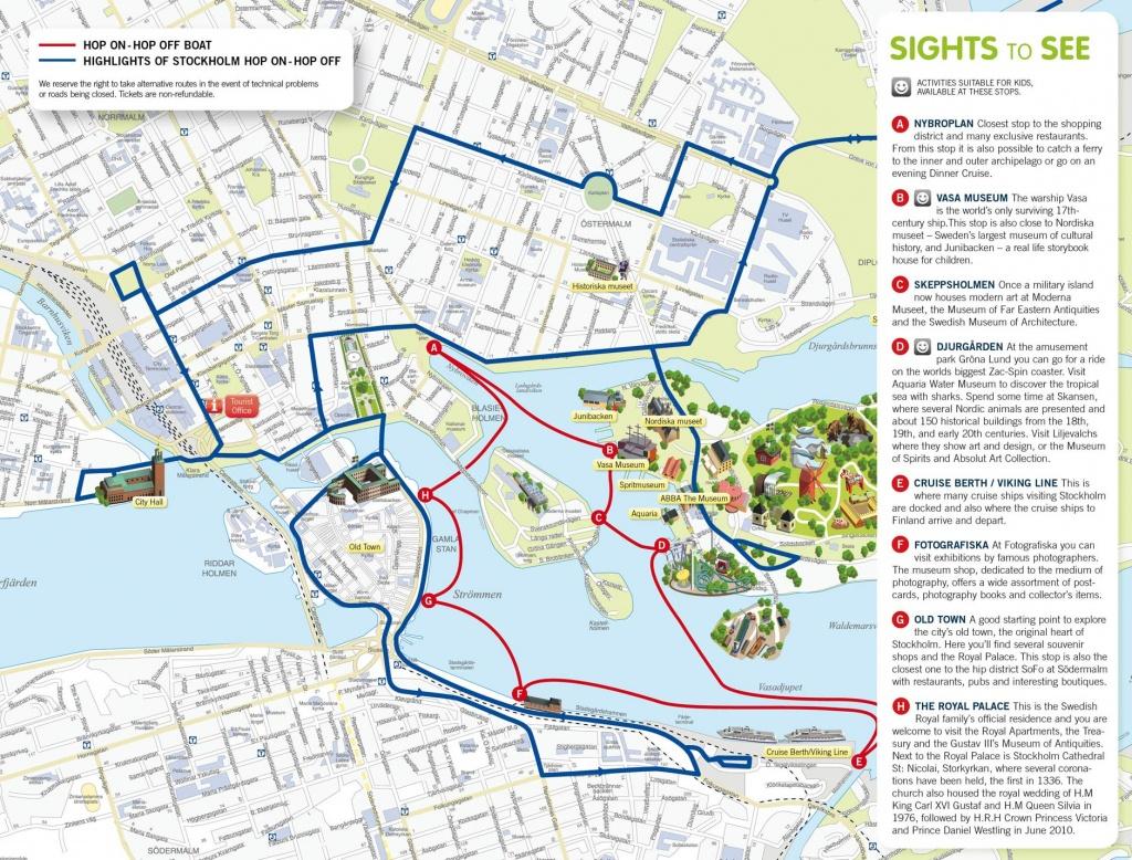 Stockholm Sweden Cruise Port Of Call - Stockholm Tourist Map Printable