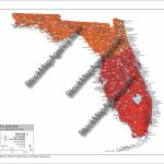 Stockmapagency Maps Of Florida Offered In Poster Print &jpg   Florida Temp Map