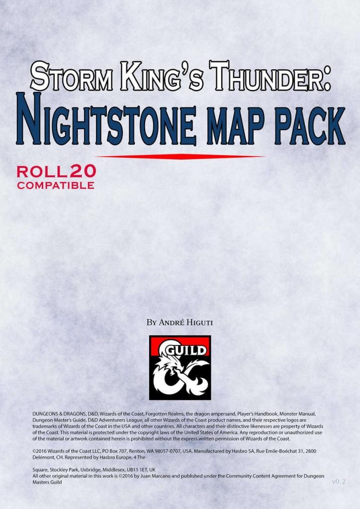 Storm King's Thunder: Nightstone Map Pack - Dungeon Masters Guild | Dungeon  Masters Guild - Storm King's Thunder Printable Maps