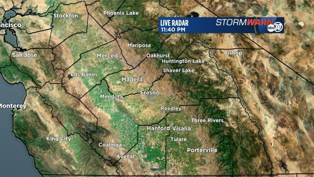 Stormwarn 30 Radar | Abc30 - Doppler Map California