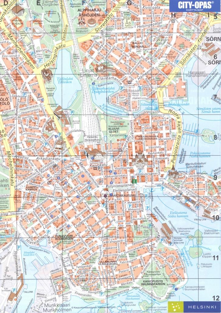 Street Map Of Helsinki | City Maps - Helsinki City Map Printable