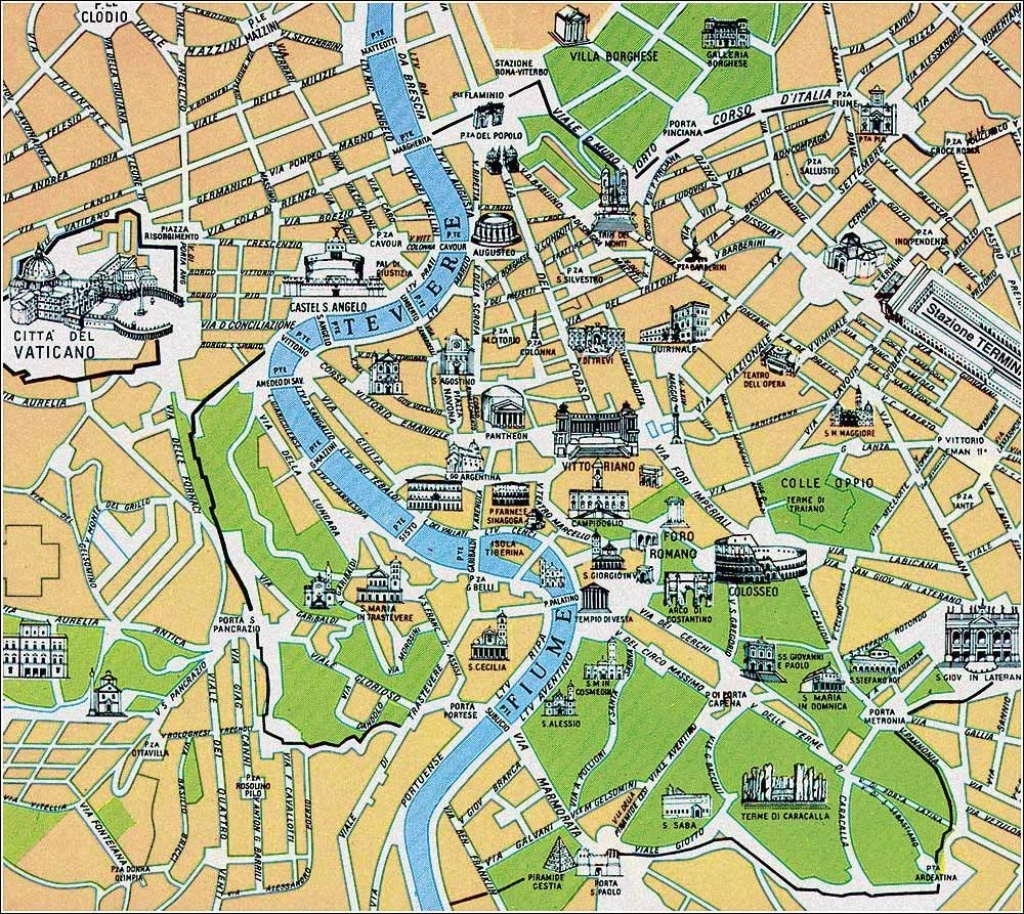 Street Map Of Rome | Map Of Rome, Rome Maps - Mapsof | Italy - Street Map Rome City Centre Printable