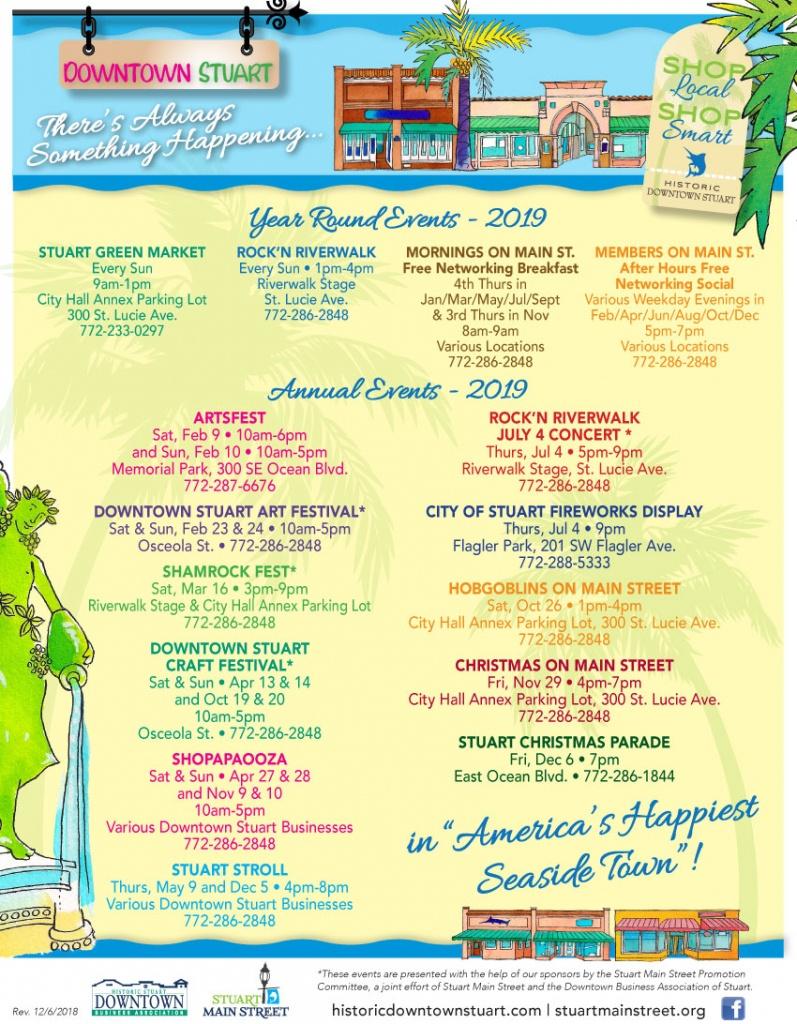 Stuart, Florida's Historic Downtown. Shopping, Restaurants - Map Showing Stuart Florida