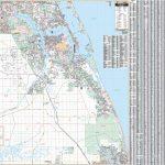 Stuart / Martin Co., Florida Wall Map   Street Map Of Stuart Florida