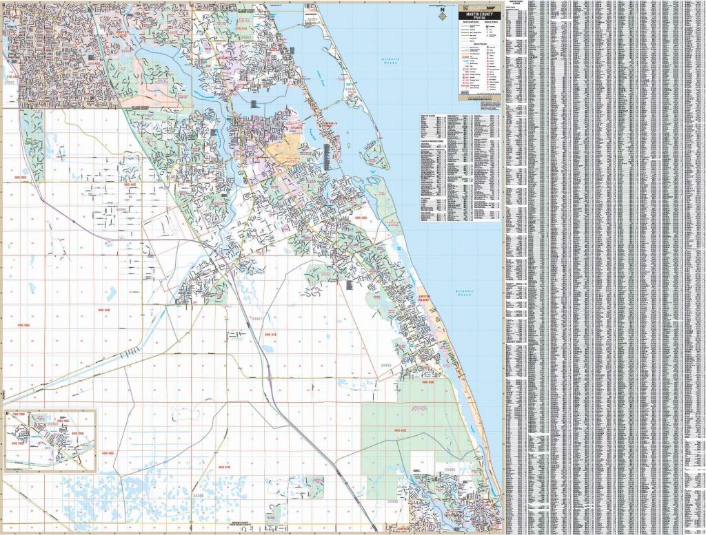 Stuart / Martin Co., Florida Wall Map - Street Map Of Stuart Florida