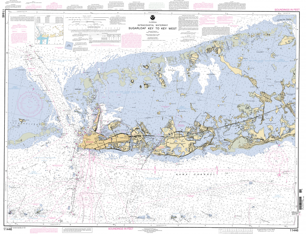 Sugarloaf Key To Key West Nautical Chart - Νοαα Charts - Maps - Florida Keys Marine Map