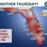 "Summer Arrives, But It's Just ""Thursday"" To Floridians - Florida Storms - Florida Heat Index Map"
