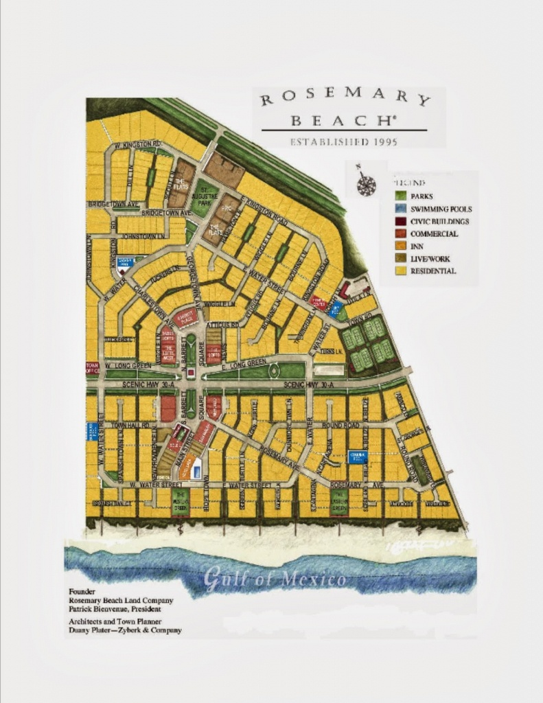 Summer Kitchen Cafe & Restaurant In Rosemary Beach, Florida - Rosemary Florida Map