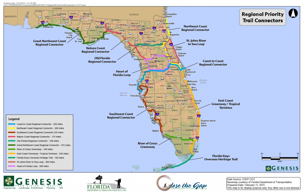 Sun Trail Legislation Looks To Connect Florida's Trails - Florida Greenways And Trails Map