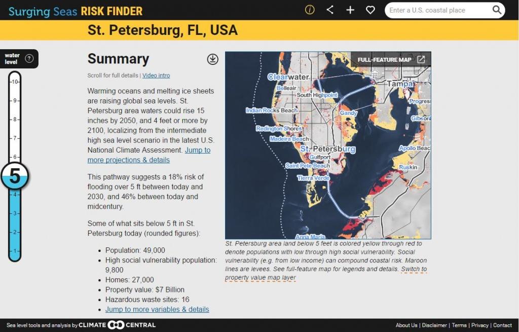 Surging Seas: Sea Level Rise Analysisclimate Central - California Sea Level Map