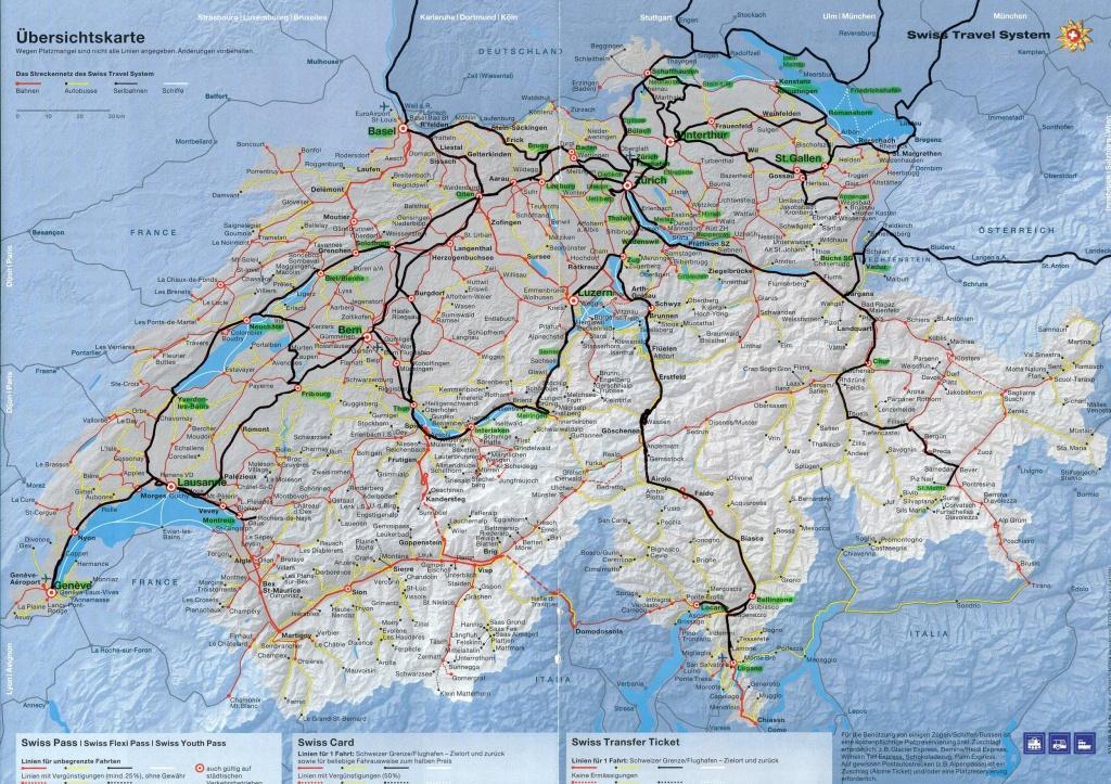 Switzerland Maps | Printable Maps Of Switzerland For Download - Printable Map Of Switzerland