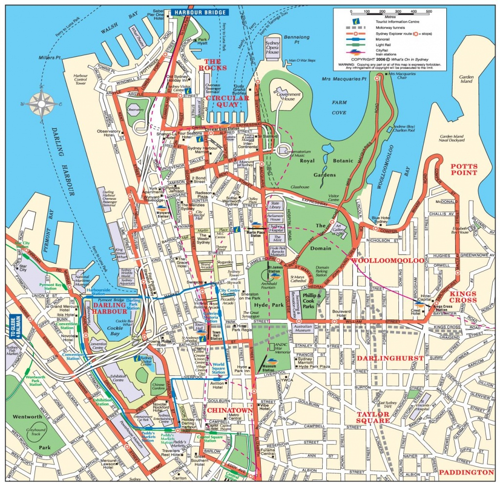 Sydney City Map - Map Of Sydney City (Australia) - Sydney City Map Printable
