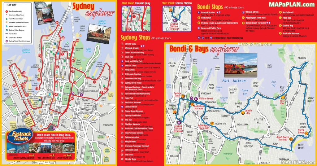 Sydney Maps - Top Tourist Attractions - Free, Printable City Street Map - Melbourne Tourist Map Printable