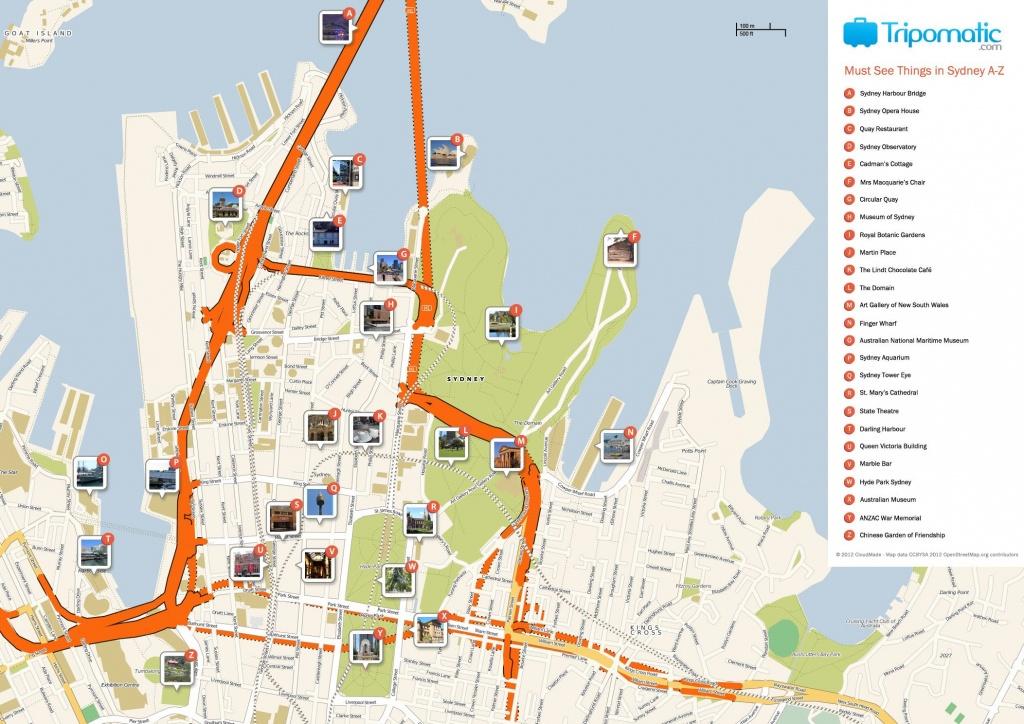 Sydney Printable Tourist Map In 2019 | Free Tourist Maps ✈ | Sydney - Sydney Tourist Map Printable