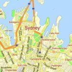 Sydney Vector Map Australia Exact Printable City Plan Editable Adobe - Printable Map Of Sydney