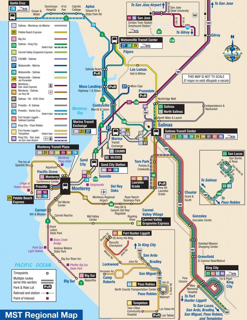 System Maps   Monterey-Salinas Transit - Seaside California Map