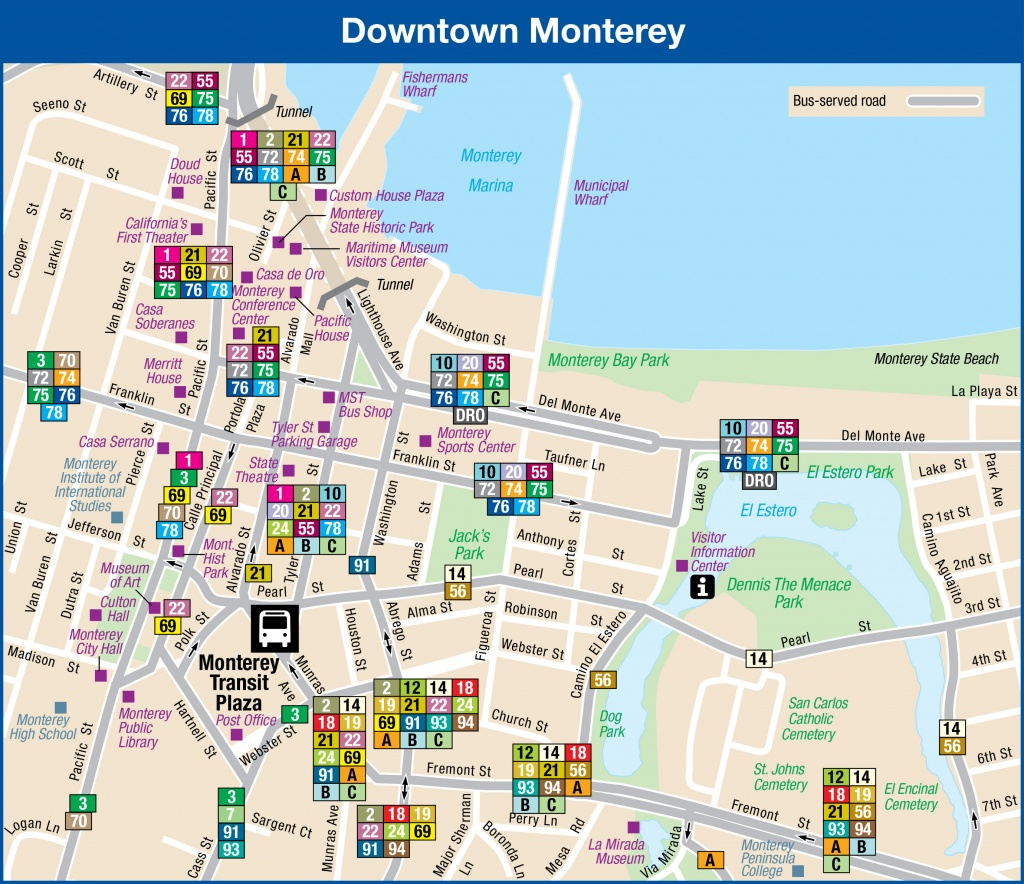System Maps | Monterey-Salinas Transit - Where Is Monterey California On The Map