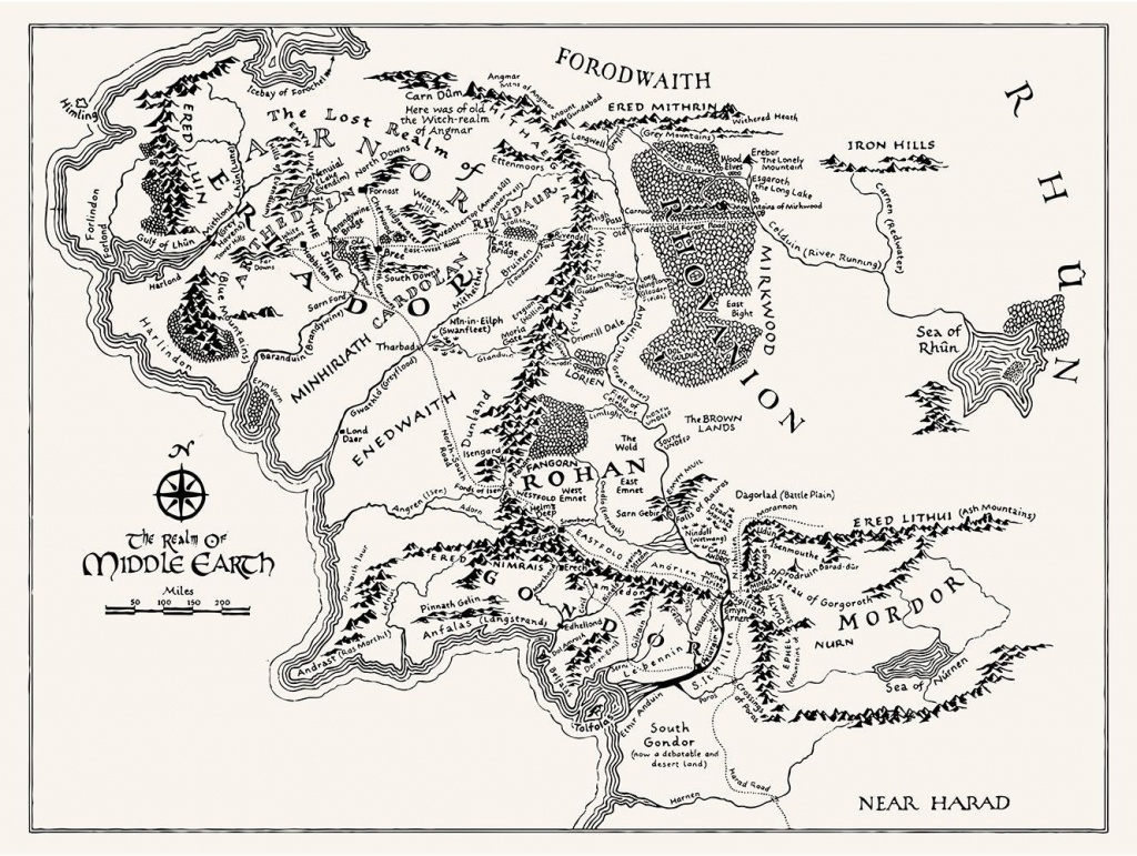 T16) - Middle Earth Map In 2019 | Tattoos | Middle Earth Map, Middle - Printable Map Of Middle Earth