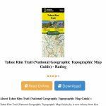 Tahoe Rim Trail (National Geographic Topographic Map Guide) Online - National Geographic Topo Maps California