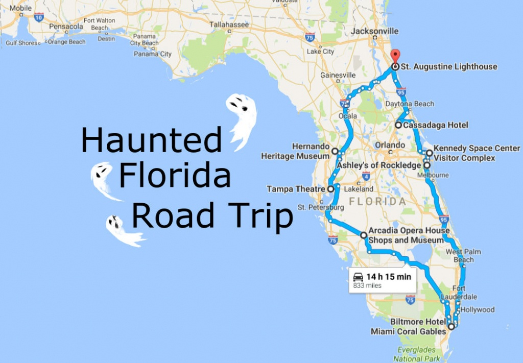 Take This Awesome Road Trip To Florida's Most Haunted Places - Cassadaga Florida Map