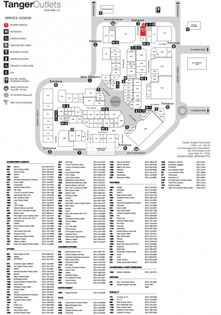 Tanger Outlets Map (95+ Images In Collection) Page 1 - Tanger Outlet Texas City Map