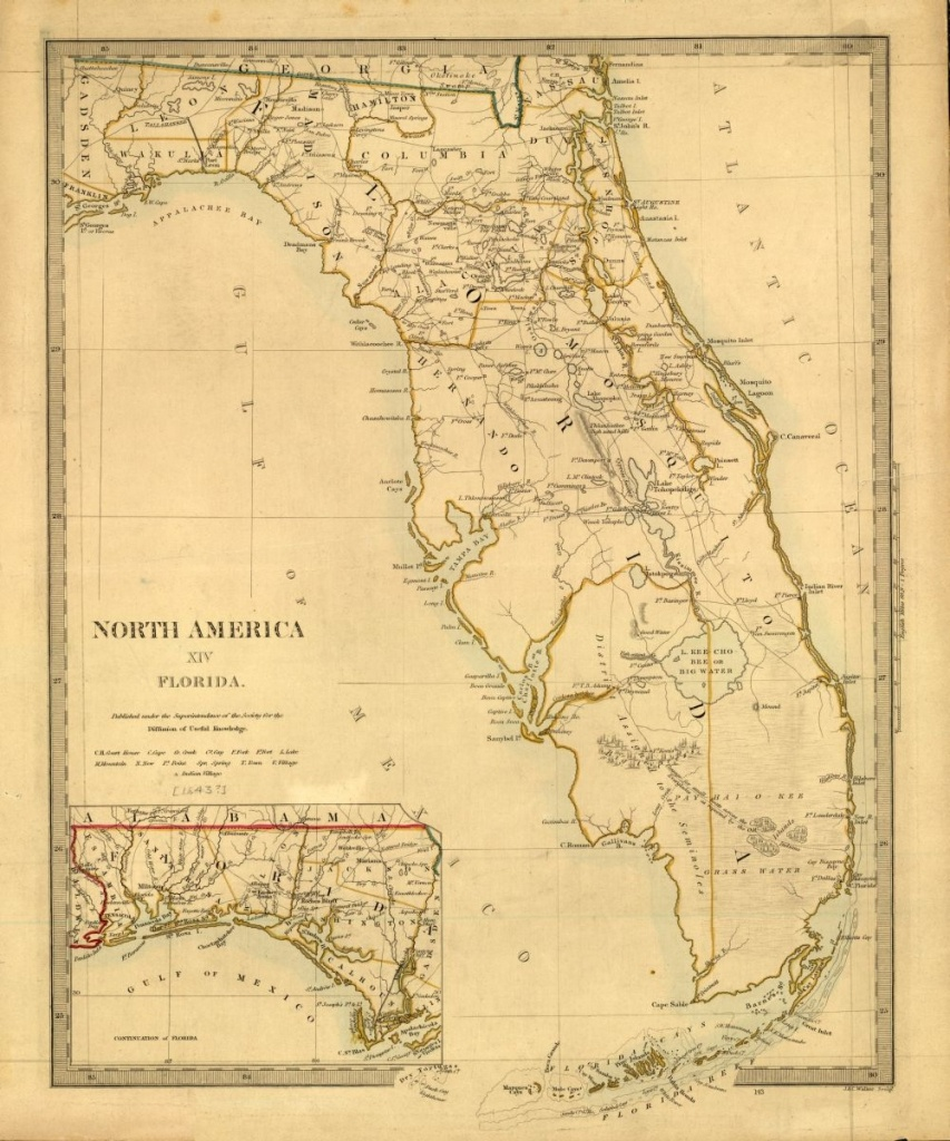 Tanner's Map Of Florida From 1833. | Florida Memory | Florida Maps - Vintage Florida Map