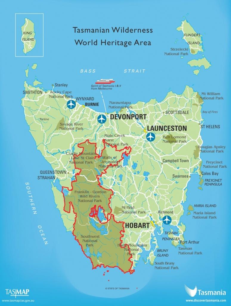 Tasmania Maps | Australia | Maps Of Tasmania (Tas) - Printable Map Of Tasmania