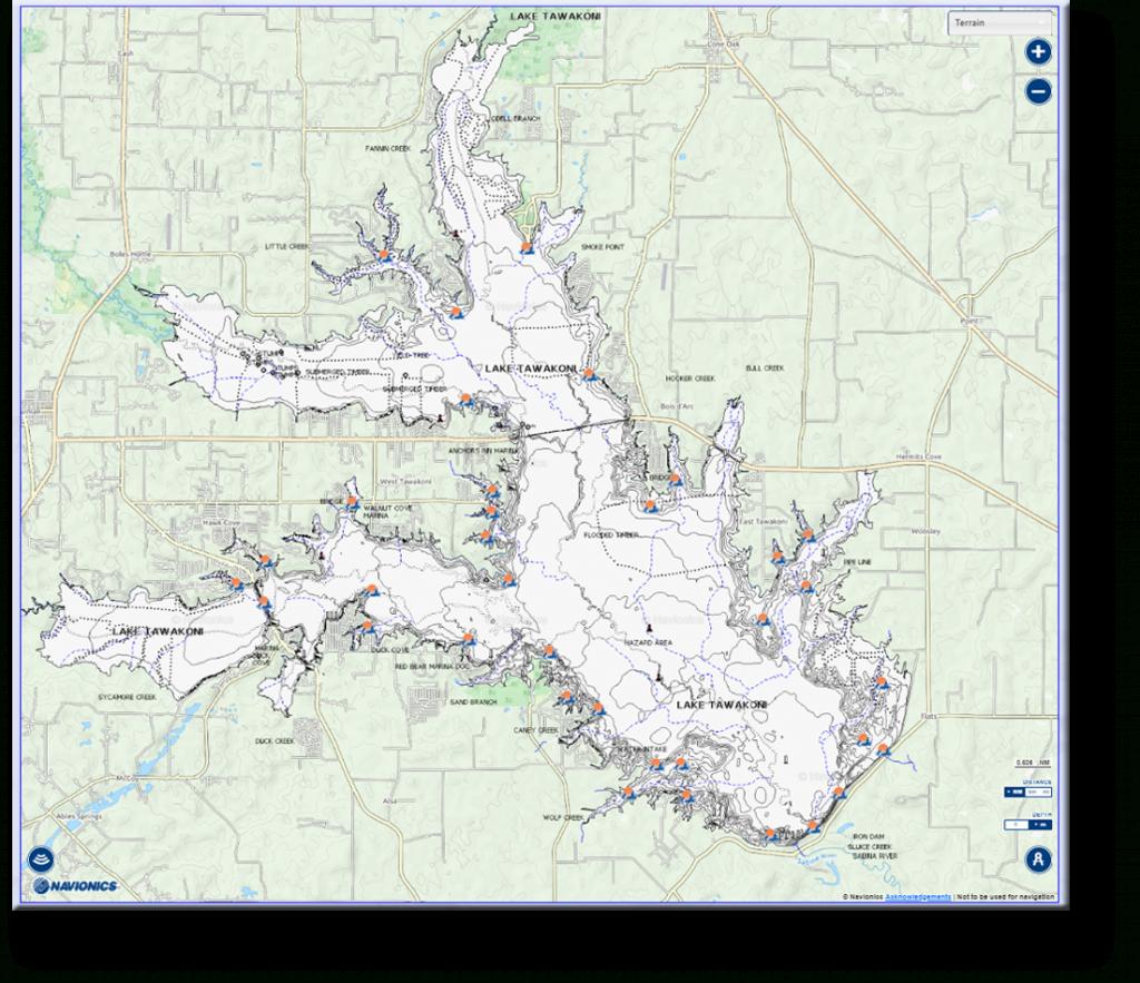 Tawakoni | East Texas Anglers & Fishing Club - East Texas Lakes Map