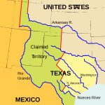 Texas Annexation   Wikipedia   Republic Of Texas Map 1845