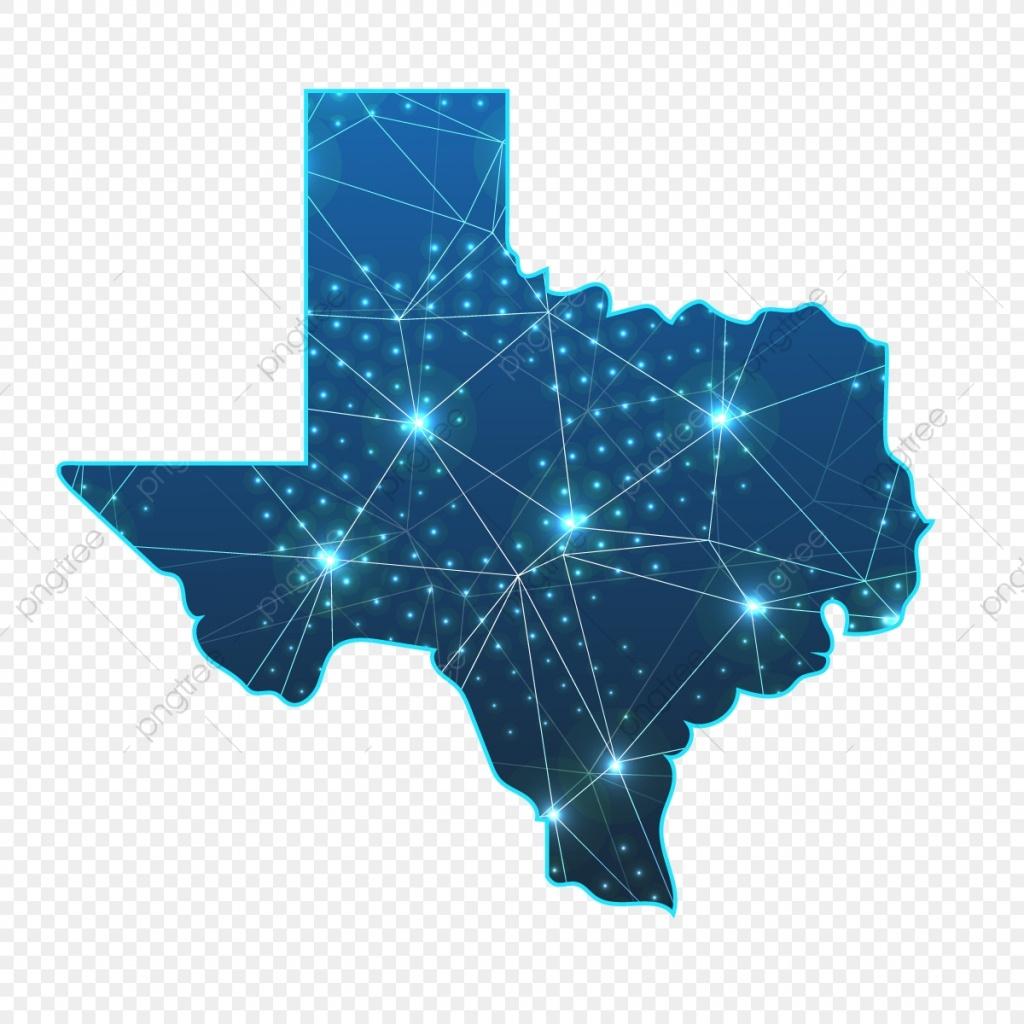 Texas Blue Texas Map Logo Creative Luminescent Png Et Vecteur Pour - Texas Tree Map