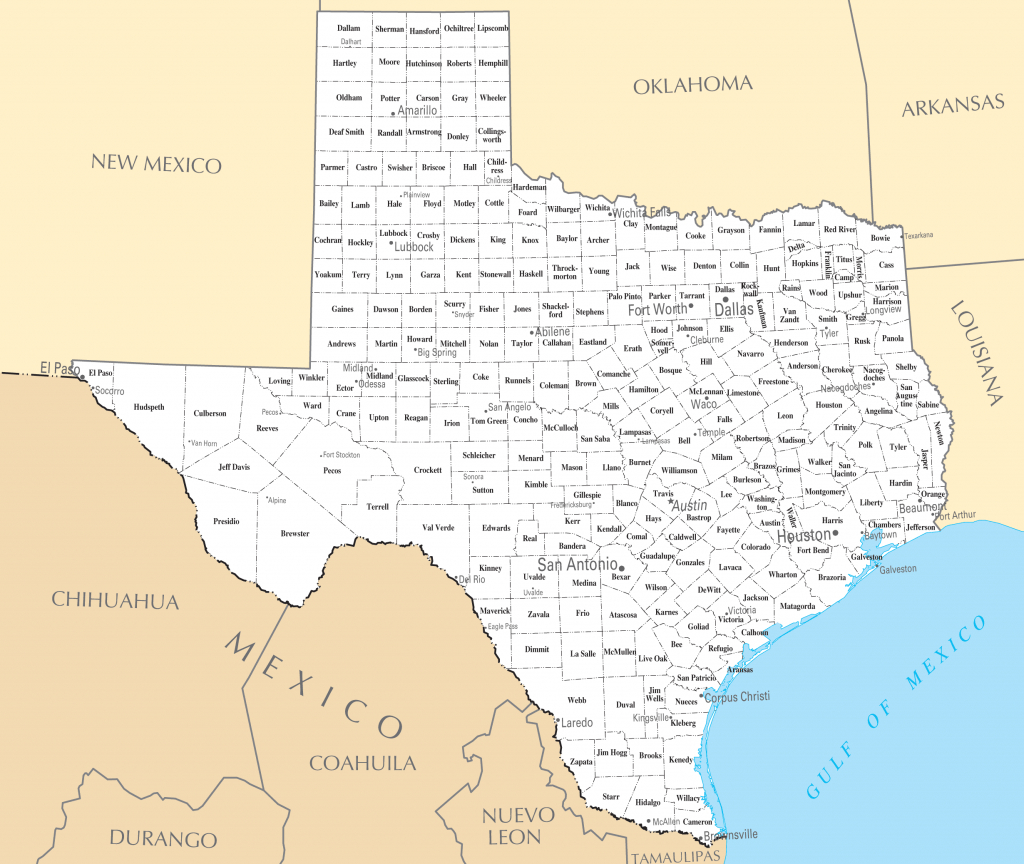 Texas Cities And Towns • Mapsof - Map Of Texas Cities And Towns