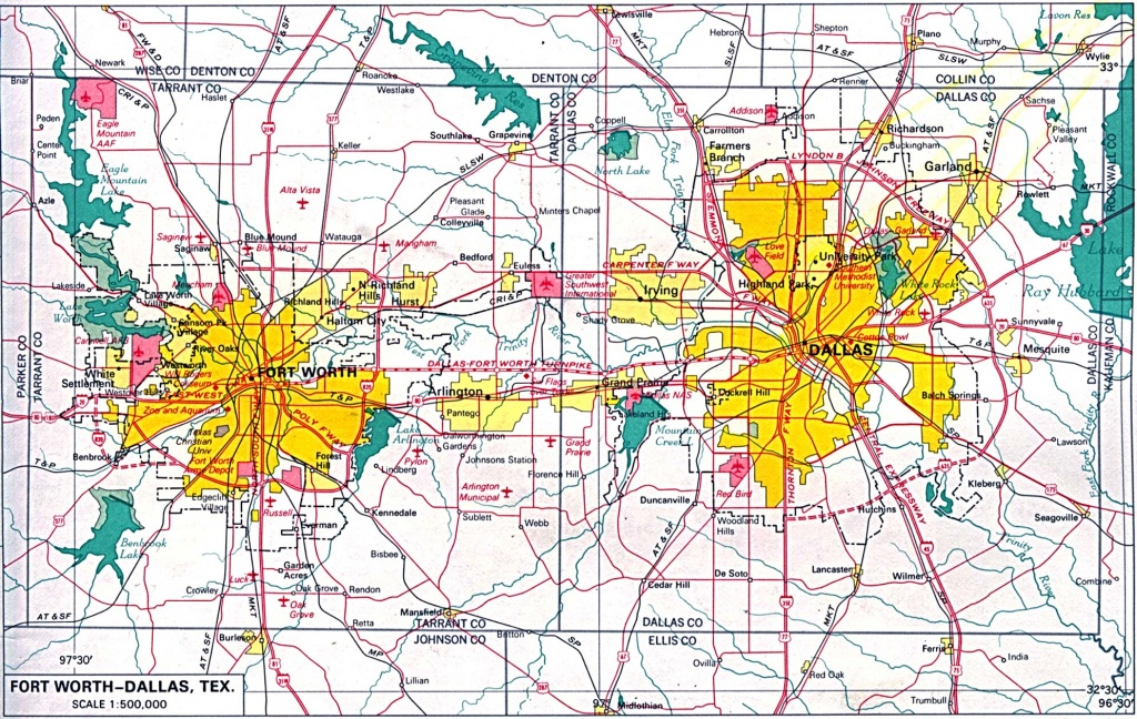 Texas City Maps - Perry-Castañeda Map Collection - Ut Library Online - Map Of Fort Worth Texas Area