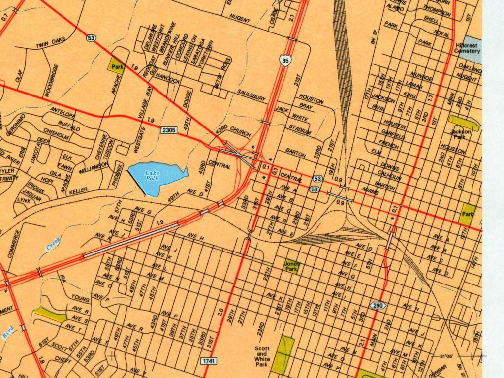 Texas City Maps - Perry-Castañeda Map Collection - Ut Library Online - Street Map Of Mckinney Texas