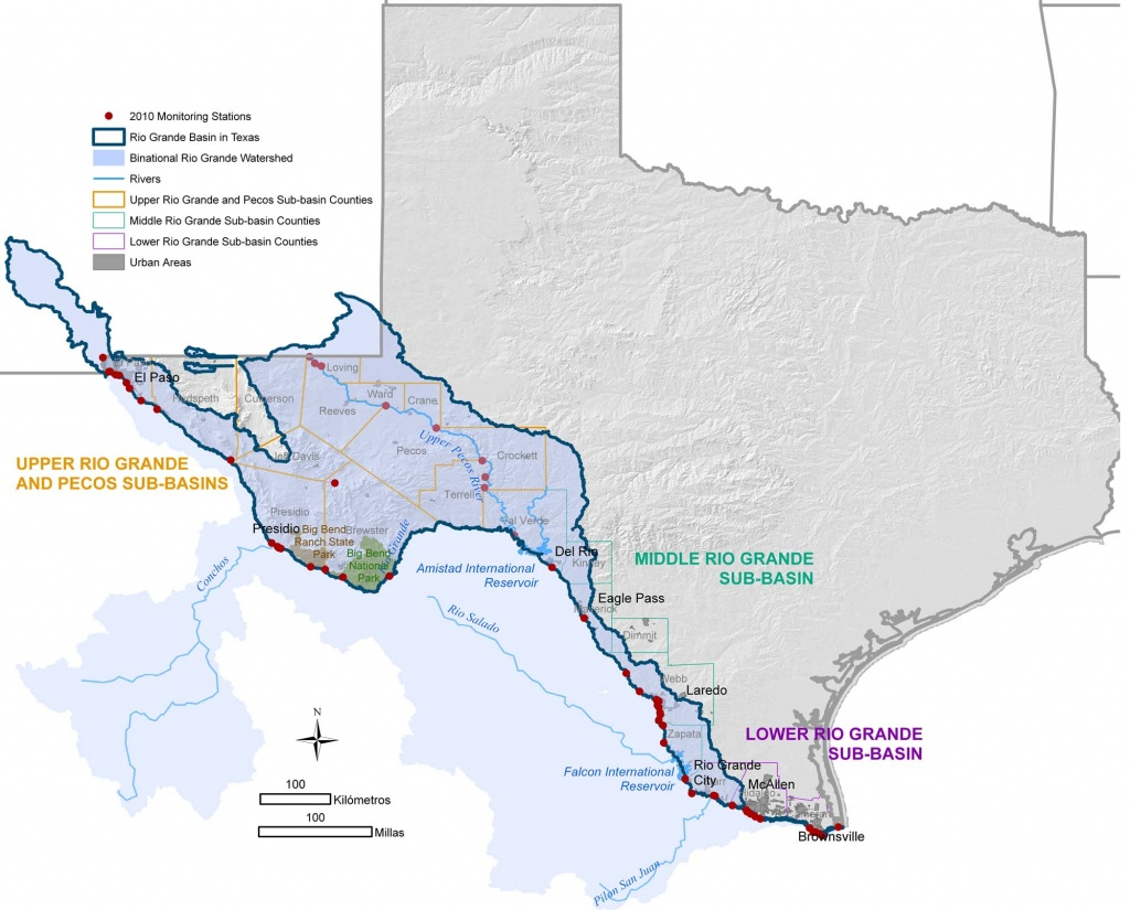 Texas Clean Rivers Program Study Area - Texas Creeks And Rivers Map