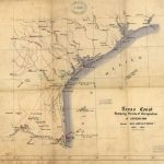 Texas Coast Showing Points Of Occupation Of Expedition Under Maj   Texas Gulf Coast Shipwrecks Map
