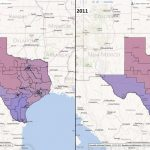 Texas Congressional Districts: Comparison 2001-2011 - Texas Congressional District Map