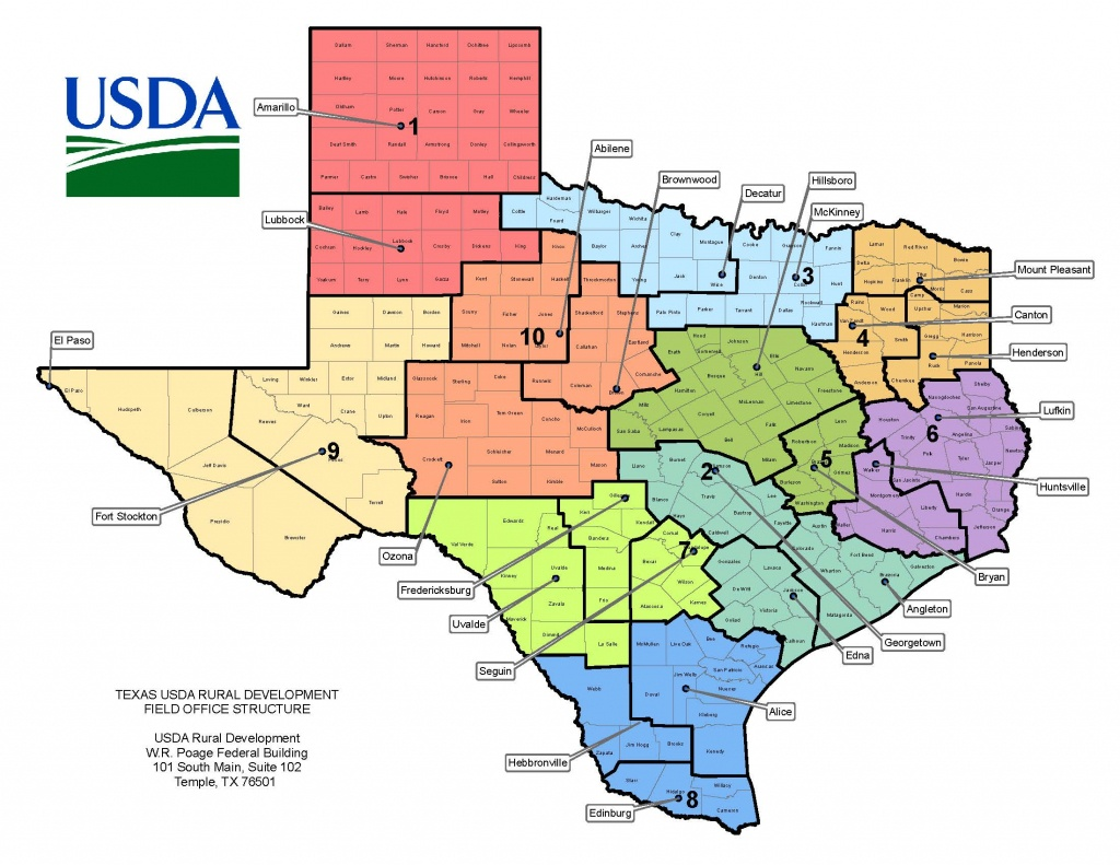 Texas Contacts | Usda Rural Development - Alice Texas Map
