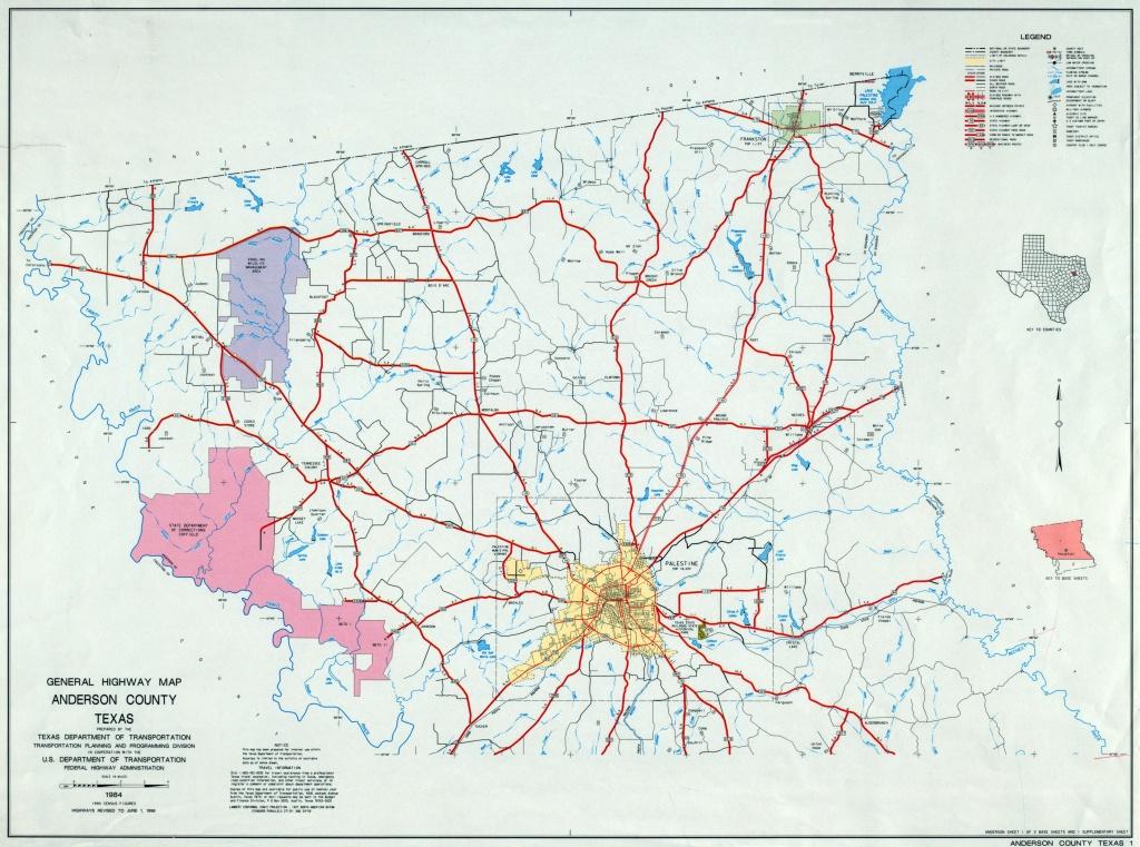 Texas County Highway Maps Browse - Perry-Castañeda Map Collection - Crockett Texas Map