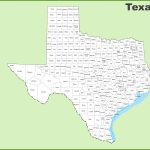 Texas County Map   Texas Map Of Texas