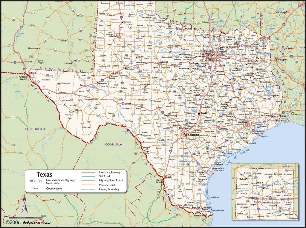 Texas County Wall Map - Maps - Giant Texas Wall Map