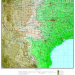 Texas Elevation Map   Topographical Map Of Texas Hill Country