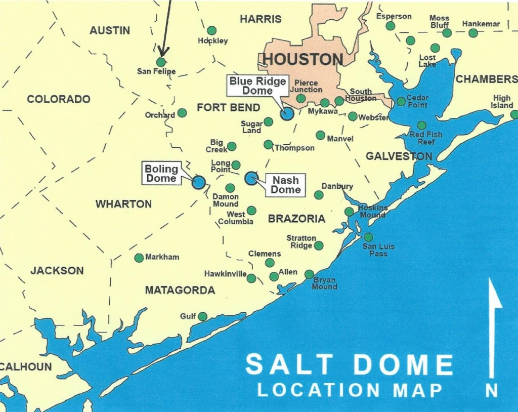 Texas Energy Exploration, Llc: Salt Dome Map Gulf Coast - Map Coastal Texas