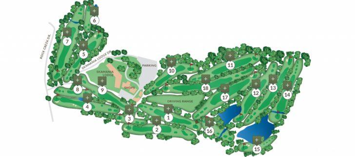 Texas Golf Courses Map
