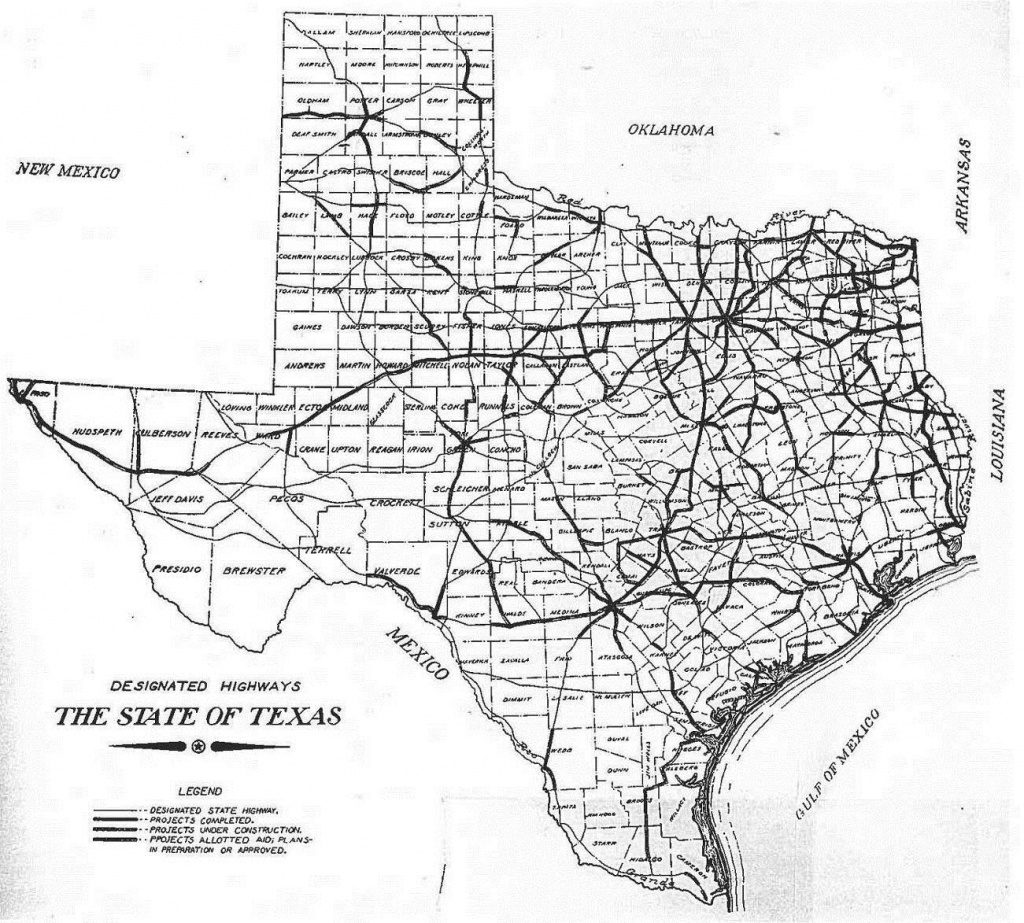 Texas Highway Department   Thc.texas.gov - Texas Historical Commission - Texas Highway Construction Map