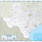 Texas Highway Wall Map   Maps   Rand Mcnally Texas Road Map
