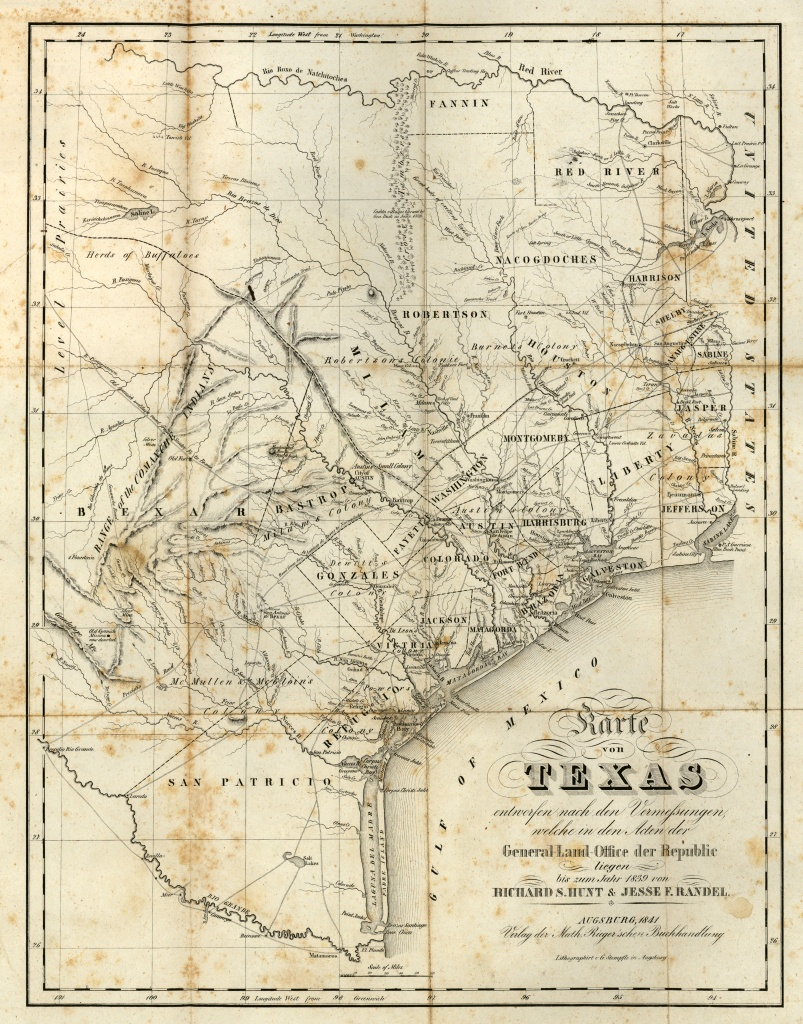Texas Historical Maps - Perry-Castañeda Map Collection - Ut Library - Antique Texas Map