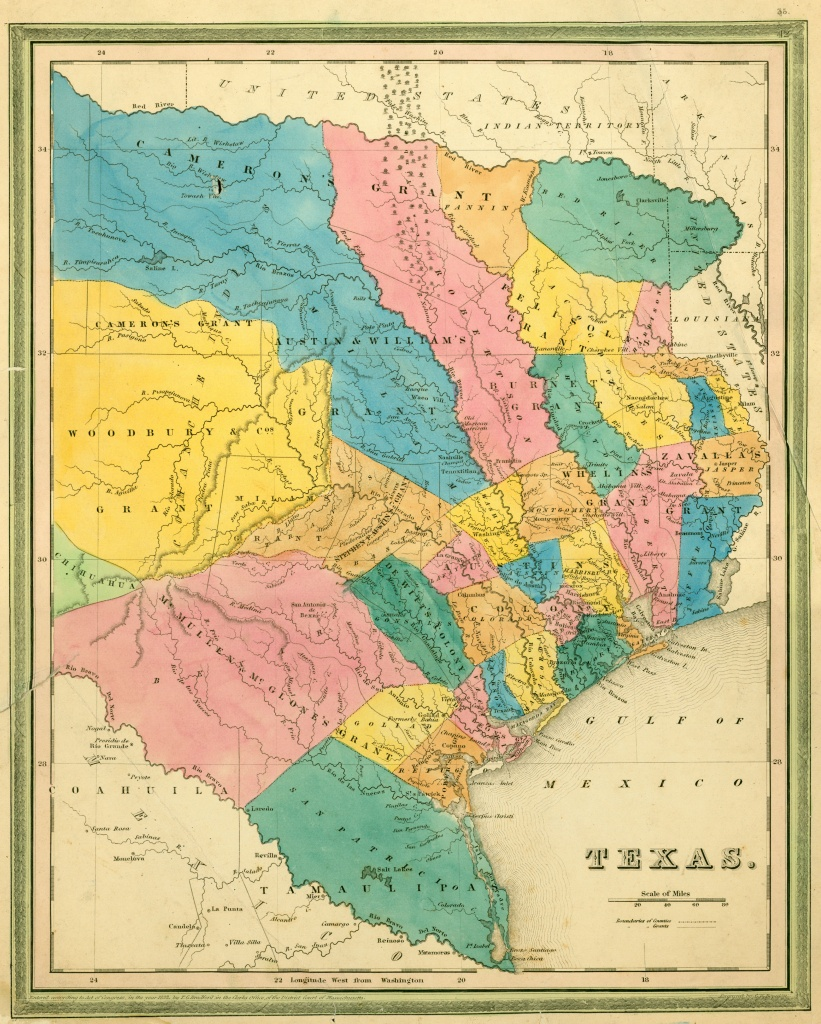 Texas Historical Maps - Perry-Castañeda Map Collection - Ut Library - Stephen F Austin Map Of Texas
